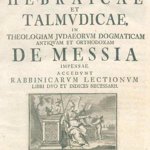 Schoettgen,C. Horae hebraicae et talmudicae in universum Novum Testamentum....2卷…