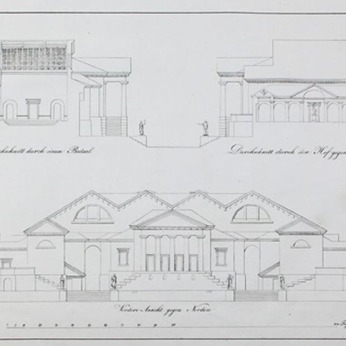 Weinbrenner,F. Manuel d'architecture. 13 numéros de la série en 9 volumes. Tbg.,…