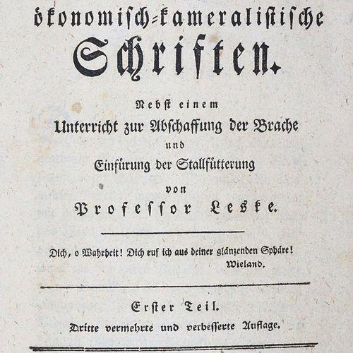Schubart,J.C.V. 经济 议会主义的著作。除了Leske教授关于废除休耕地和引入稳定饲养的指示外。第3次,害虫和动词。编制。Tle.1 3(v.6)…