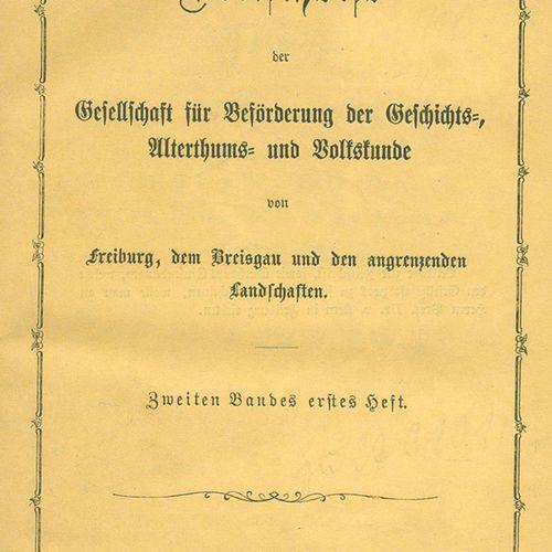 Schriften der Gesellschaft für Beförderung der Geschichtskunde zu Freiburg im Br…