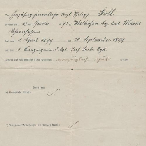 Sammlung d'environ 60 fol. Avec des inscriptions ou des signatures manuscrites. …