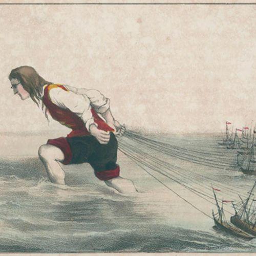(Swift,J.). Les voyages de Gulliver à Lilliput. Purmerend, Makkes (1853). Qu.8°.…