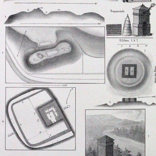 """Sammelband avec 8 publications de """"Mittheilungen der antiquarischen Gesellschaft…"""
