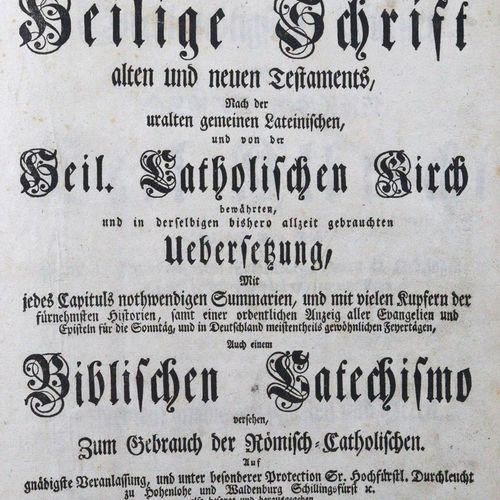 Biblia germanica. Catholische Bibel, das ist die Heilige Schrift Alte and Neuen …