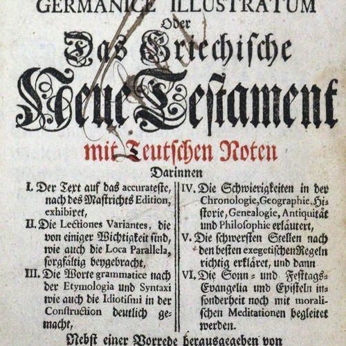 Biblia graece. Novum Testamentum graecum germanice illustratum... Édité par Ch. …
