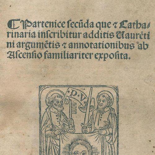 Baptista Mantuanus (d.I. J.B.Spagnioli). 签名的是Catharinaria,其签名的是Vaure(n)tini argu…