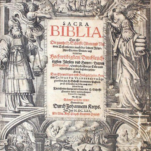Biblia germanica. 圣经》,即根据最后的罗马西斯廷版....,整个圣经,即新旧约圣经。科隆,Kreps 1630。有了GEST。20 nn., …
