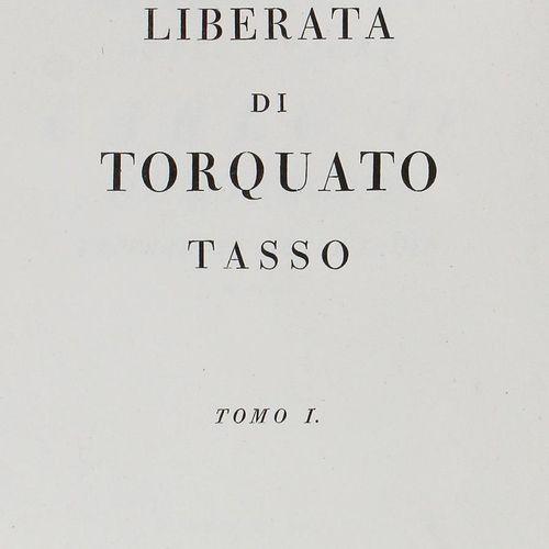 Tasso,T. La Gerusalemme Liberata. 3 volumes. Parme, Bodoni 1794. Fol. Reliure d.…
