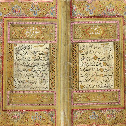 Koran. Manuscrit arabe sur papier, vers le XVIIIe siècle. 12,5 x 9 cm. 300 fol. …