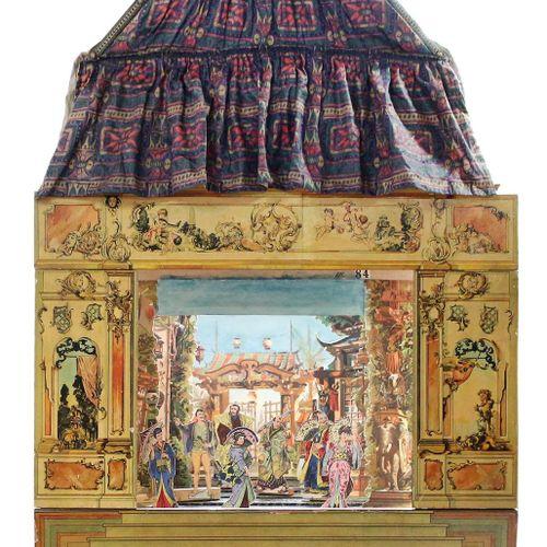 Schreibers Kindertheater. 埃斯林根,Schreiber,约1895年。 400号舞台(安装在木头上),可拆卸的舞台在一个特制的抽屉柜里…