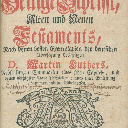 Biblia germanica. Biblia, c'est à dire : l'ensemble des Saintes Écritures, Ancie…