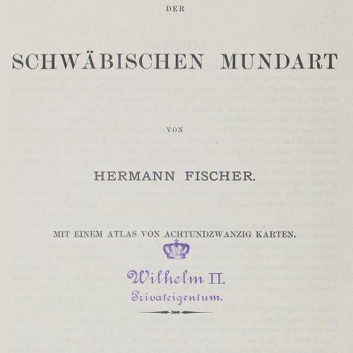 Fischer,H. Géographie du dialecte souabe. Texte et atlas en 2 volumes. Tbg., Lau…