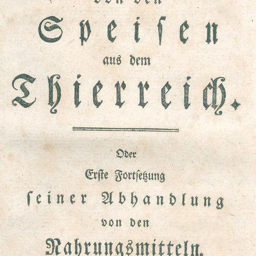 Zückert,J.F. Des aliments du règne animal (et du règne végétal). Ou la première …