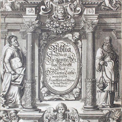 Biblia germanica. 圣经,即:整个圣经,由马丁 路德德语化:与D. Pauli Tossani...评论和解释。1668年,曼海姆的Wust f…