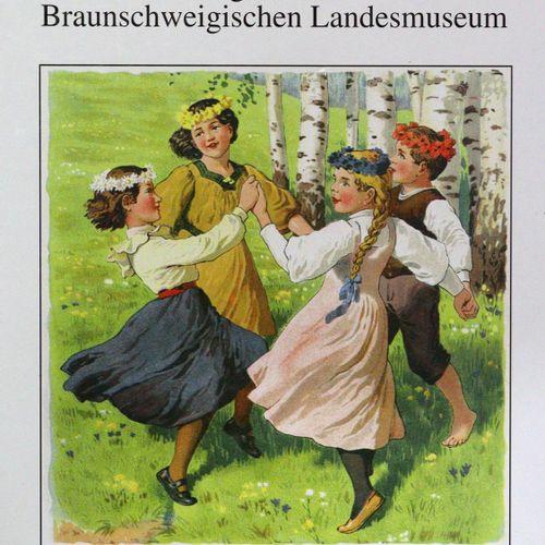 Kinderfreuden 图文并茂的《给我的小宝贝》,巴塞尔,斯皮特勒1882年出版。 有20幅彩色石版印刷的文字插图。pp.彩色插图。布。(擦伤和损坏,接头…