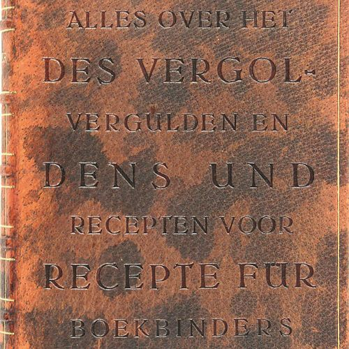 Jander,G. U. F.Wehrend. L'ensemble de la dorure et de la récepte pour les relieu…