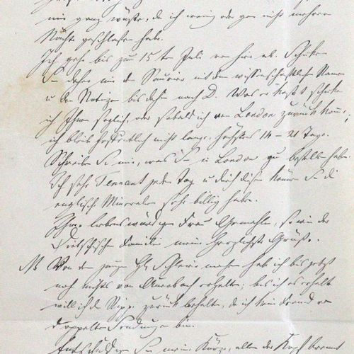 Kaup, Johann Jakob, Paläontologe u. Zoologe (1803 1873). Eh. Brief mit Unterschr…