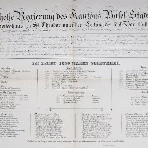 Matzinger,F. Als die hohe Regierung des Kantons Basel Stadttheil im Jahr 1836 di…