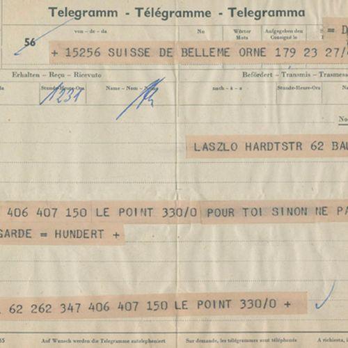 Hundertwasser (d.I. F.Stowasser, 1928 2000). Eh. Signé sur une expertise (1 feui…