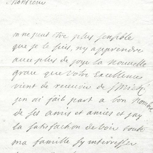 Gerbini, Luigia (1770 Turin ?, violoniste et chanteur). Eh. Note datée du 4 juil…