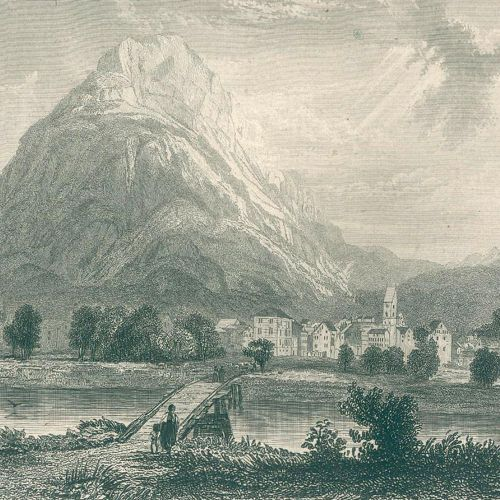 Zschokke,H. 瑞士的经典场所。有解释。1卷中的2部分。Karlsruhe u. Lpz.(1836 38).Cl.4°。有了GEST。85张钢板。21…