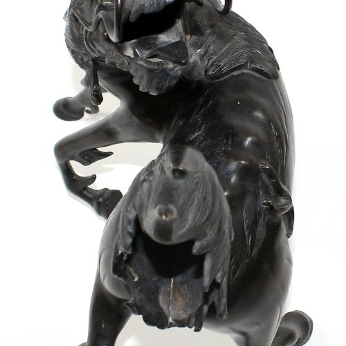 Bronze des Longma Drachenpferd Japan Meiji Periode. Fein gestaltete Bronze des D…