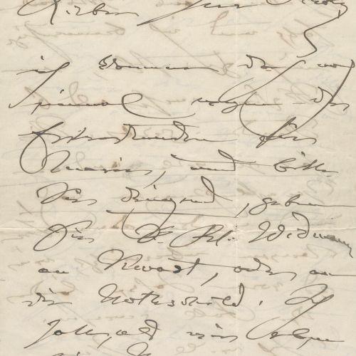 Schumann, Clara, Komponistin und Pianistin (1819 1896). Eh. Brief mit Unterschr.…