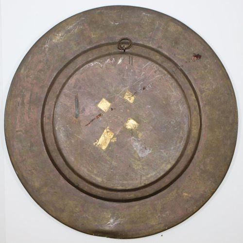 Reliefteller mit Shiva. Prächtiger Reliefteller Indien wohl frühes 19.Jh. Umlauf…