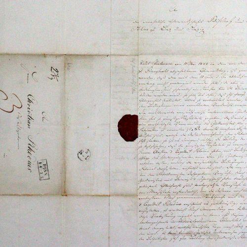 Bischof, Karl Gustav, Géologue, chimiste a. Entrepreneur (1792 1870). 4 autograp…