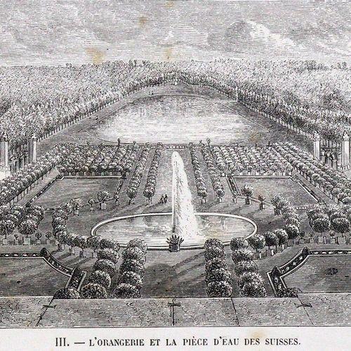 Jaime,(E.). Douze Vues des Chateaux et Parcs de Versailles et de Trianon.Jaime的 …
