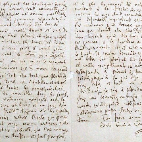 Budge, Ludwig Julius, 医生,波恩和格赖夫斯瓦尔德的教授(1811 1888)。Eh.有签名的信,日期。波恩,1852年10月15日,4°。…