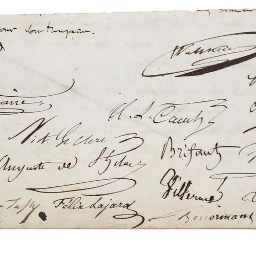 Blattfragment avec 16 autographes. Signatures de personnalités françaises, vers …