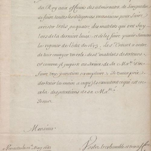 Colbert, Jean Baptiste, Marquis de Seignelay, Français. Ministre de la Marine et…