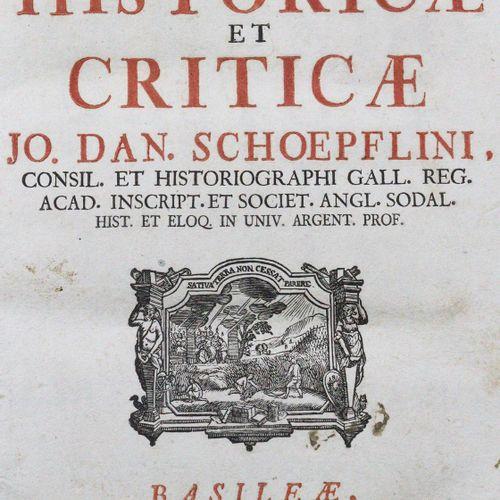 Schoepflin,J.D. Commentationes Historicae et Criticae. Basel, Decker 1741. Kl.4°…