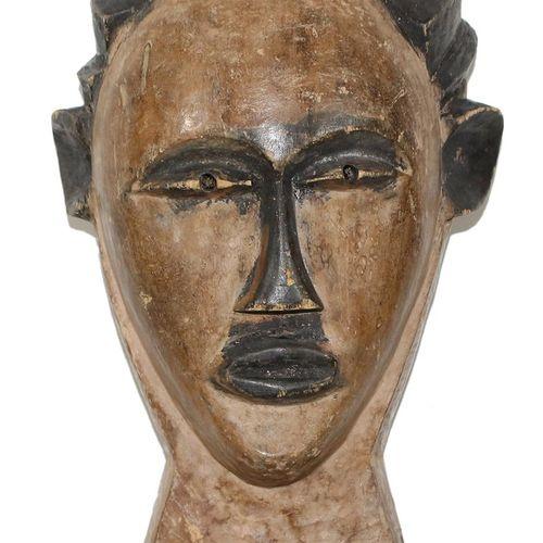 "Maske Kongo Laut, Marc Felix ""Masque Madeleine"" Maske weiblich, Ovoide, geometri…"