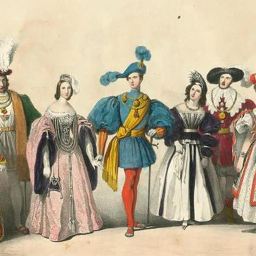Gonin,F. Souvenirs du bal costumé. Turin, Ajello & Doyen 1824. Qu.Fol. Avec 14 (…