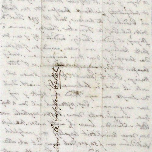 Te Water, Jona Willem, 荷兰改革派神学家(1740 1822)。Eh.有签名的信,日期。1799年4月2日,8°。1张,单面刻字。有几个褶…