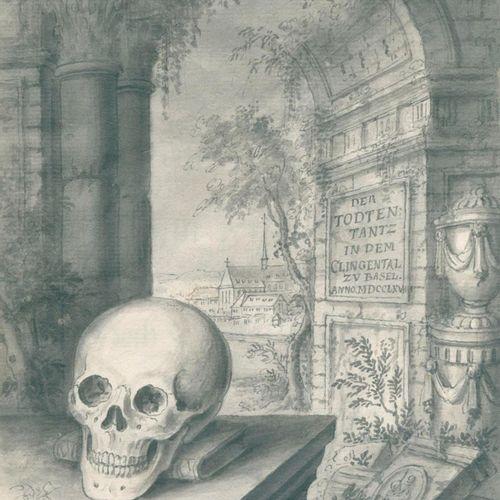 Büchel,E. 巴塞尔克林根塔尔的死亡之舞》,根据原作绘制,由伊曼纽尔 比谢尔于1768年放置在Liecht上,并附有在那里发现的其他画作的附录,以及教堂里…
