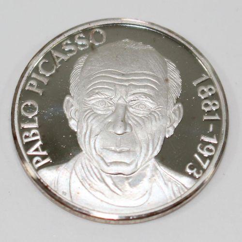 Pablo PICASSO 6枚精美的银质奖章。每张都是明亮的未流通的。1000纯银,有证书。由Dr. Ising Gesellschaft Heubach发行…