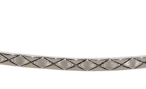 Armband, 585 WG. Zeitloses Design mit rautenförmigen Elementen teilpoliert. L: 2…