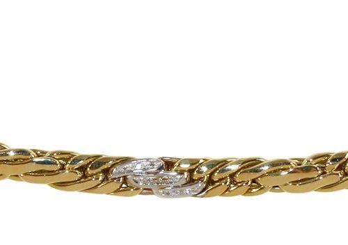 Armband mit ca. 30 Diamanten. Bracelet intemporel, style Art déco, en or jaune e…