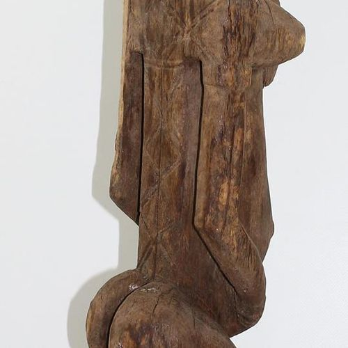 Bamana Mali große weibliche Kult Ahnenfigur. Typisch geschmückter Kopf mit Zopff…