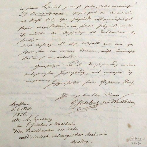 Fischer von Waldheim, Johann Gotthelf, Médecin, zoologiste, entomologiste, etc.,…