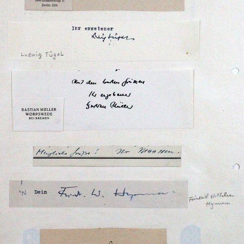 Sammlung von 90 eh. Sign. Deutschsprachiger Schriftsteller, Journalisten, Intend…