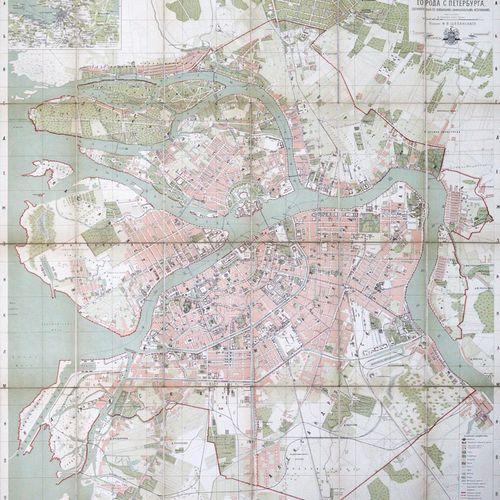 St.Petersburg. Plan goroda S. Peterburga (kyrill., = Stadtplan von Sankt Petersb…