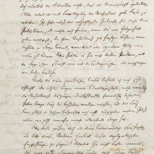 Mundt, Theodor, 德国青年》的作家和文学评论家(1808 1861)。Eh.有签名的信,日期。柏林,1841年7月26日,8°。2页,2页题词。几…