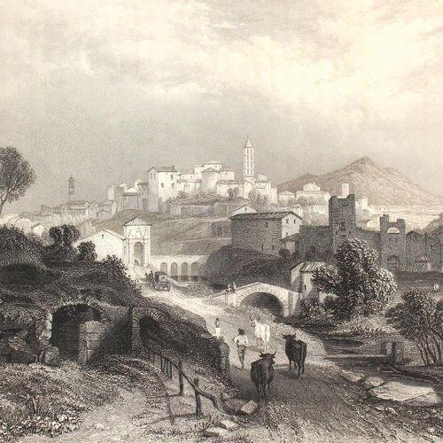 Brockedon,W. Italie. Classique, historique et pittoresque. En 60 vues. Lpz, Weig…