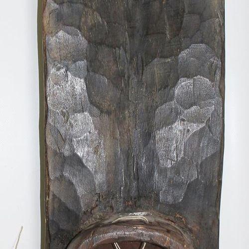 Grebo Liberia Masque en carton avec 6 paires d'yeux et décoration en plumes. Inc…