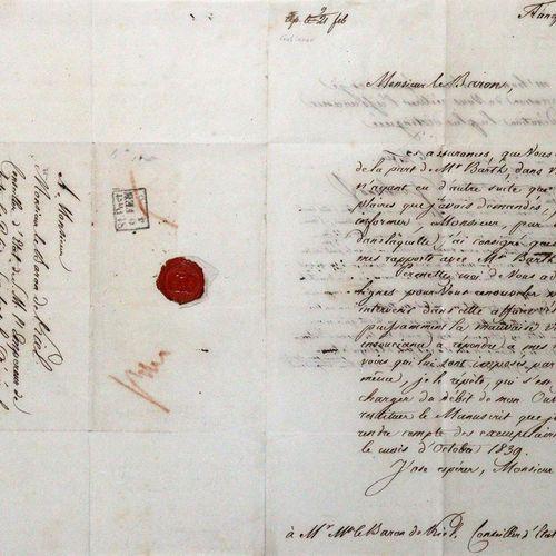Gulianov, Ivan, Égyptologue et écrivain russe (1789 1841). Eh. Lettre avec signa…