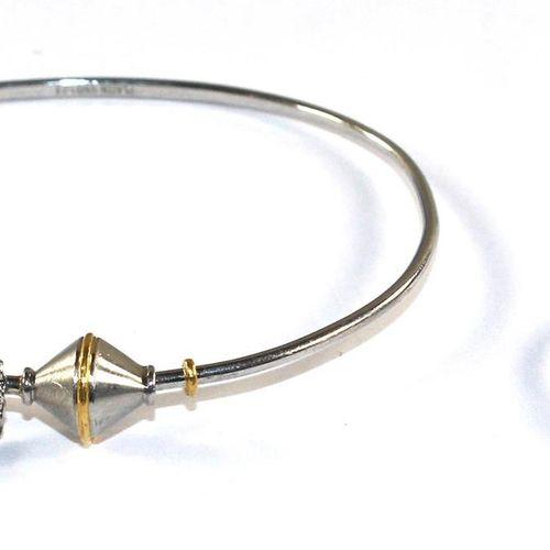 Design Platinreif avec un diamant suspendu. 950 pt u. Marque de maître estampill…